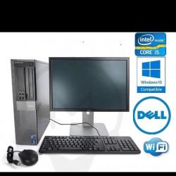 Refurbished Dell 790 Core i5 2440 8GB 128GB 250gb  22 Inch Windows 10 Professional