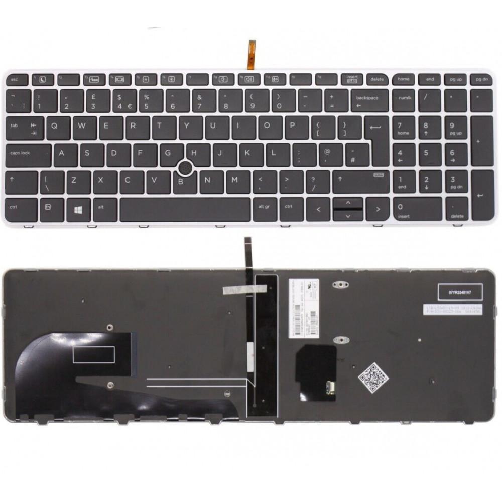 HP Elitebook 755 G3/G4, 850 G3/G4 UK Keyboard