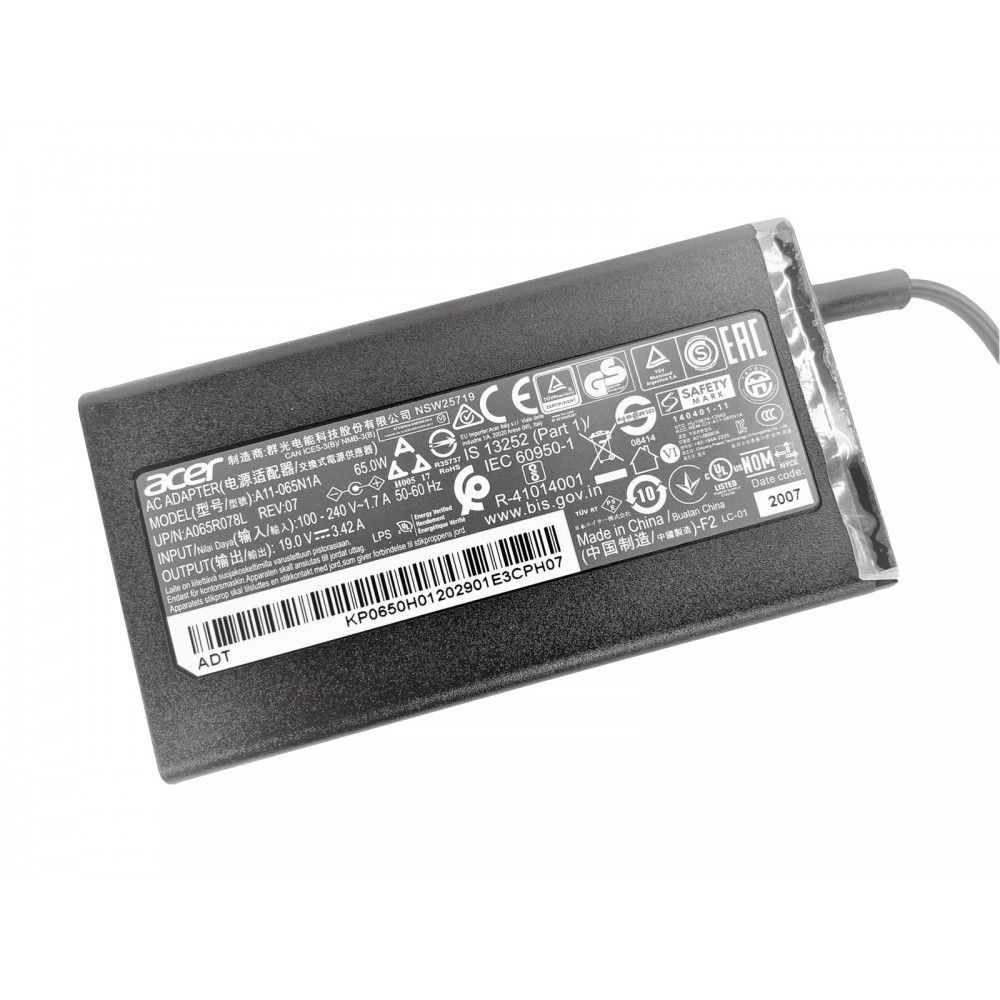 Genuine Packard Bell 19V 3.42A 65W OEM Charger