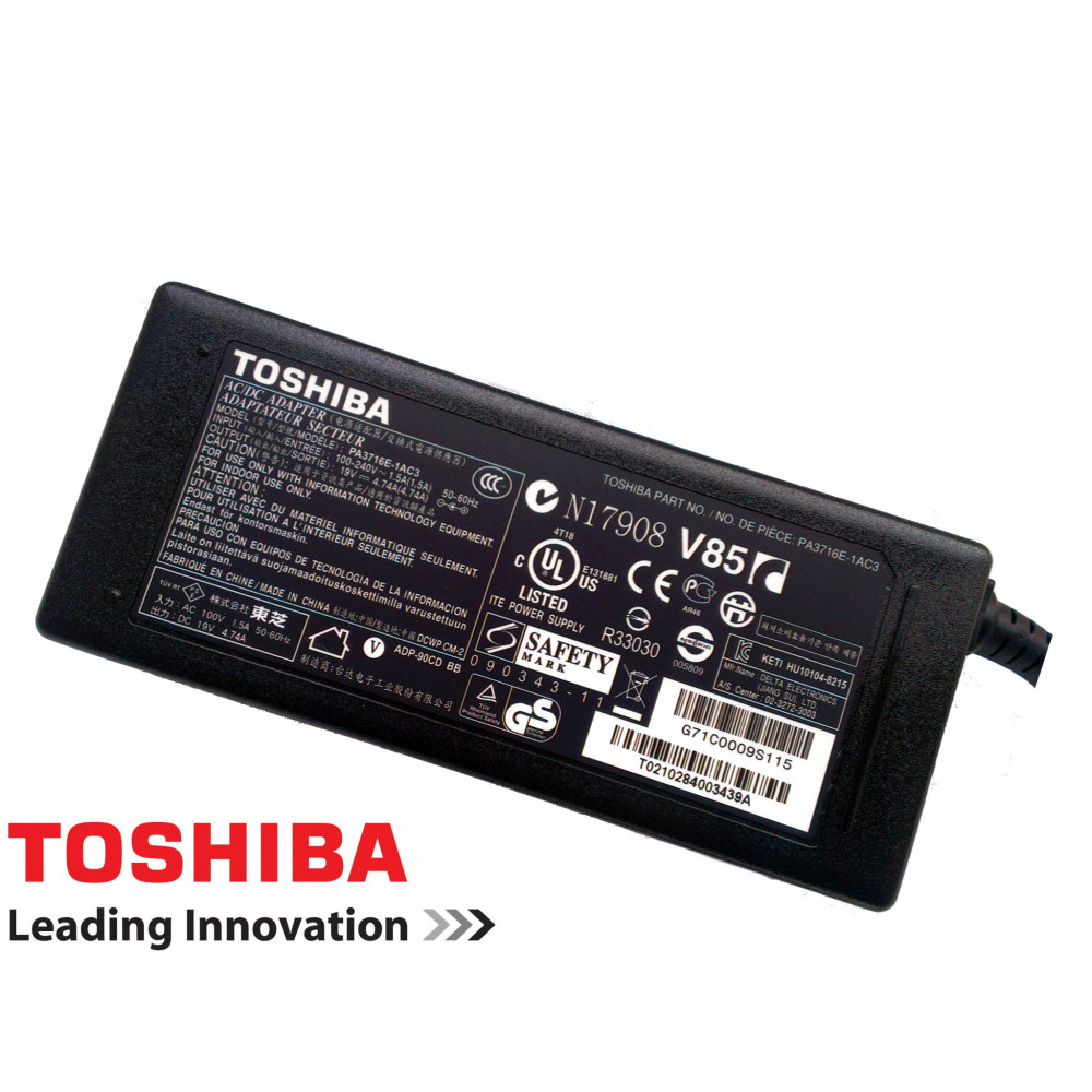 Genuine Toshiba 19V 4.7A 90W Laptop Charger